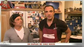 D couvrez nikos en train de cuisiner video stars actu for Cuisine xavier laurent