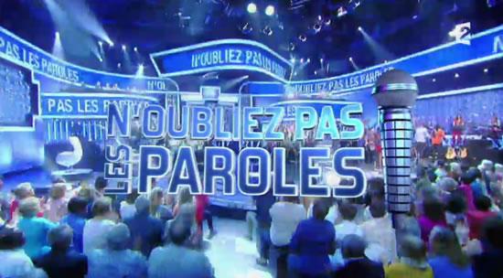 N'oubliez pas les paroles (capture France 2)
