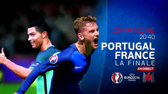 portugal france record d 39 audience historique pour m6 replay finale euro 2016 stars actu. Black Bedroom Furniture Sets. Home Design Ideas