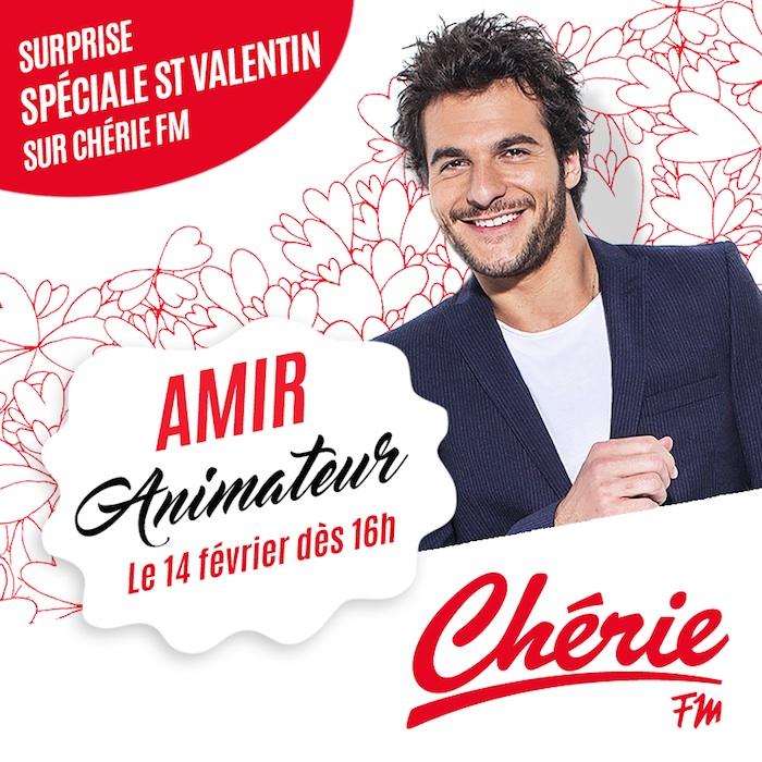Passez la Saint Valentin avec Amir sur Chérie FM