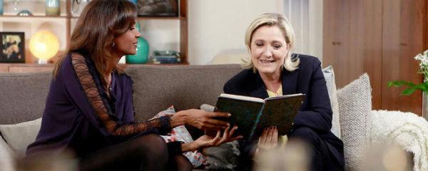 Karine Le Marchand sur un tract de Marine LePen, elle est en colère !