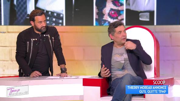 Thierry Moreau annonce son départ et quitte le plateau en direct — TPMP