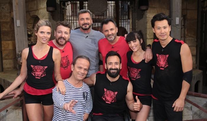Erika Moulet, Bruno Guillon, Sylvie Tellier, Frédéric Chau, Michaël Jeremiasz, Frédéric Lopez — Fort Boyard