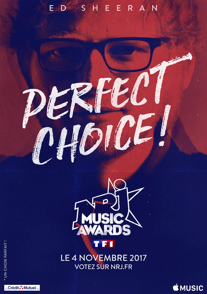 NRJ Music Awards 2017 : Ed Sheeran sera là