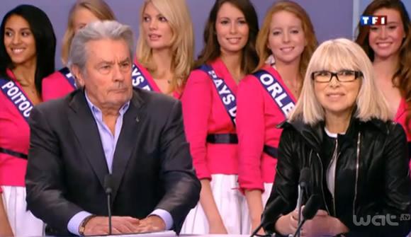 Alain Delon et Mirelle Darc sur TF1