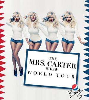 Affiche ''Mrs Carter World Tour'' (DR)