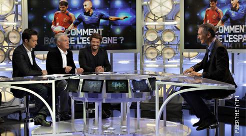 Didier Deschamps lors de sa précédente venue dans TELEFOOT