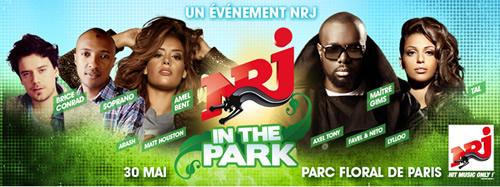 1er concert NRJ IN THE PARK