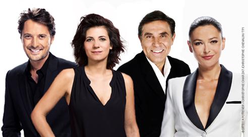 Le Loto sur TF1 avec Vincent Cerutti, Estelle Denis, Jean Pierre Foucault et Sandrine Quétier