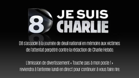 """Charlie Hebdo : """"Touche pas à mon poste"""" déprogrammé jusqu'à lundi"""