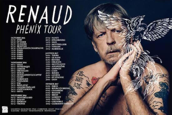 Renaud : nouvelle tournée Phénix Tour à partir du mois d'octobre
