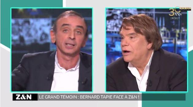 Gros clash entre Bernard Tapie et Éric Zemmour (VIDEO)