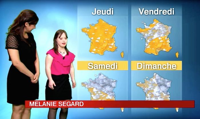 Mélanie Ségard, atteinte de trisomie 21, a présenté la météo de France 2 (VIDEO)