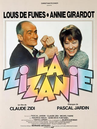 "Louis de Funès et Annie Girardot dans ""La Zizanie"""