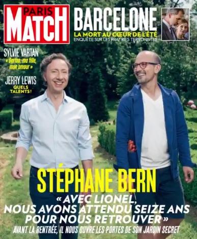 Stéphane Bern avec son compagnon en Une de Paris Match