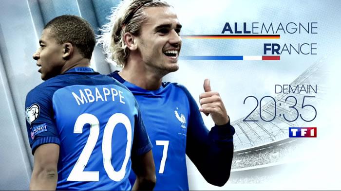 Le match de football Allemagne-France domine la soirée