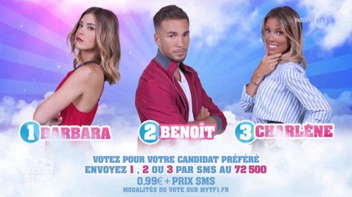 Secret Story 11 : Barbara, Benoit et Charlène nominés (SONDAGE)