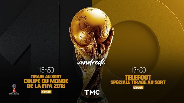Coupe du monde de football 2018 : tirage au sort sur TMC