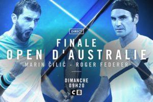 La finale de l'Open d'Australie à suivre en direct sur C8