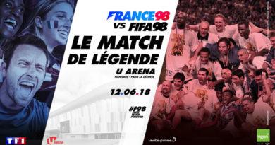 FRANCE 98 vs FIFA 98 – un match de légende à suivre le 12 juin sur TF1