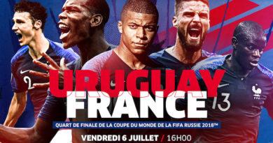 Coupe du Monde 2018 : France-Uruguay, programme TV et résultats en direct du 6 juillet