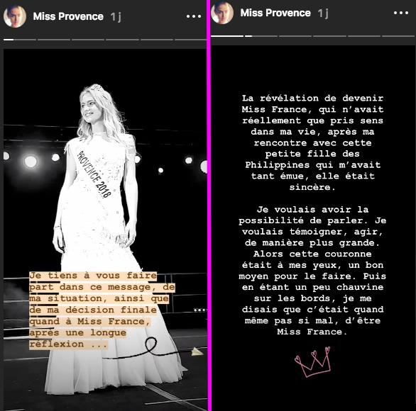 Miss France 2019 : Miss Provence jette l'éponge !