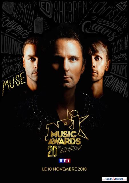 MUSE  pour la 1ère fois sur la scène des NRJ MUSIC AWARDS