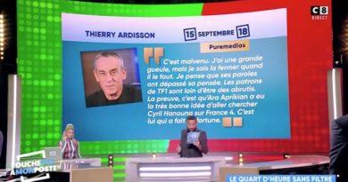 """TPMP, Cyril Hanouna tacle Thierry Ardisson : """"il devrait la fermer"""" (VIDEO)"""