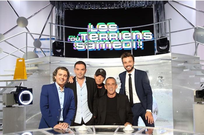 """Thierry Ardisson et l'équipe de """"Les terriens du samedi"""""""