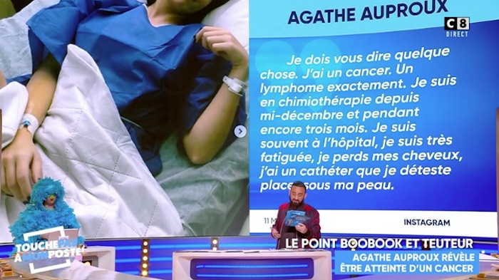 "Cancer d'Agathe Auproux : Cyril Hanouna réagit dans TPMP, ""on la soutient à fond"" (VIDEO)"