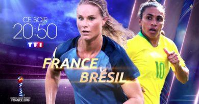 France / Brésil 1/8ème de finale de la Coupe du monde féminine de football de la Fifa sur TF1