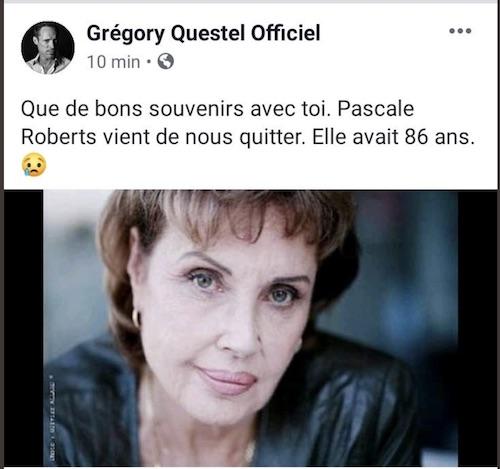 Mort de Pascale Roberts, actrice de Plus belle la vie