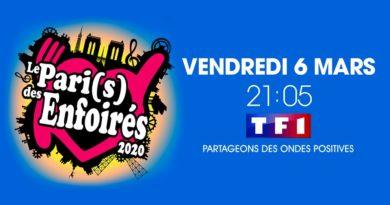 Audience tv prime 6 mars : carton pour le concert 2020 des Enfoirés