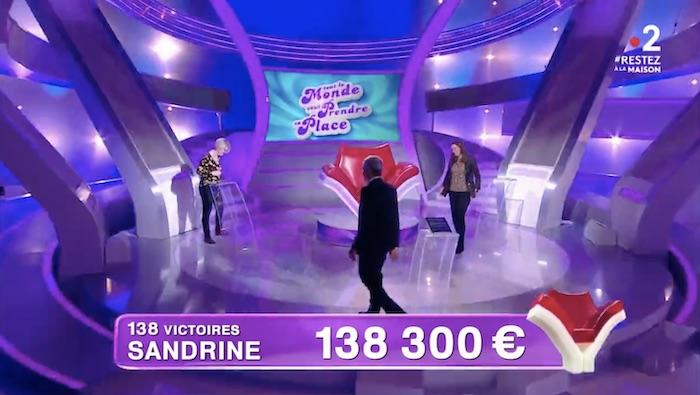 « Tout le monde veut prendre sa place » du 23 mars : une 138e victoire pour Sandrine, qui égale Enzo