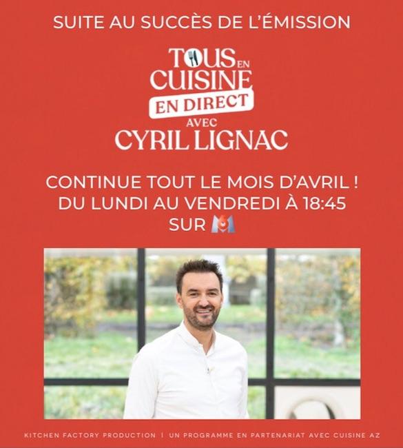 « Tous en cuisine avec Cyril Lignac »