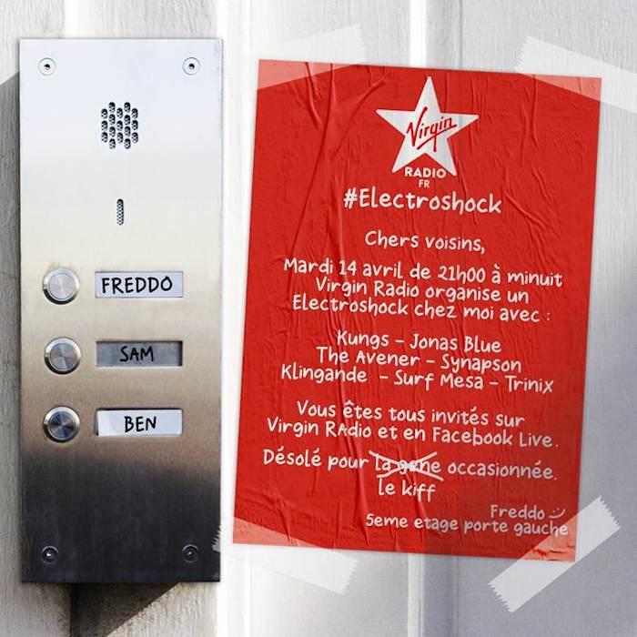 Virgin Radio organise sa soirée Electroshock chez vous