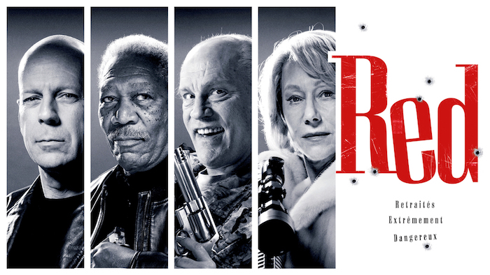 « Red » avec Bruce WILLIS et Morgan FREEMAN