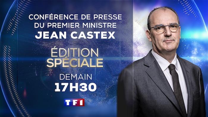 Conférence de presse de Jean Castex du 7 janvier à suivre dès 17h30 sur TF1