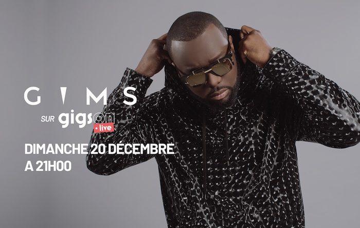 Gims en concert live stream le 20 décembre