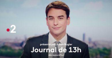 Journal de 13h : Julien Bugier félicite Marie-Sophie Lacarrau pour son audience