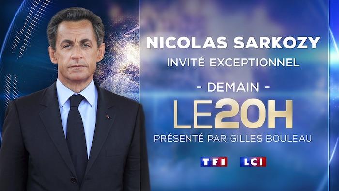 Nicolas Sarkozy invité du 20h de TF1 mercredi 3 mars