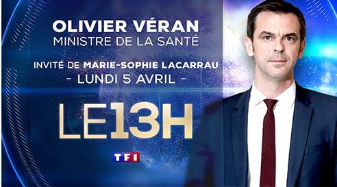 Olivier Veran invité du 13 heures de TF1