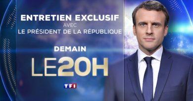 Entretien avec Emmanuel Macron dimanche soir sur TF1