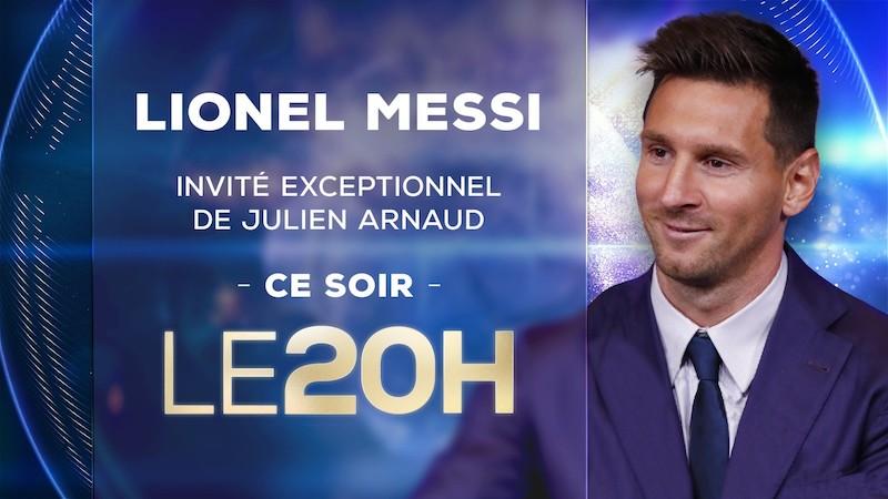 Lionel Messi invité du 20 heures de TF1